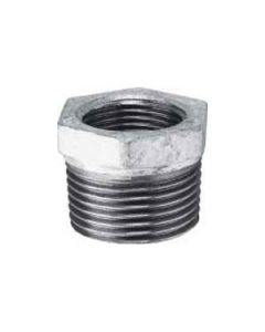 "1"" x 1/2"" Malleable Iron Galvanised Reducing Bush"