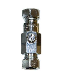 15mm DOUBLE CHECK VALVE CHROME PLATED